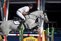 Cox Karel, (BEL), Nicole<br /> Belgisch Kampioenschap Springen - Lanaken 2016<br /> © Hippo Foto - Dirk Caremans<br /> 14/09/16