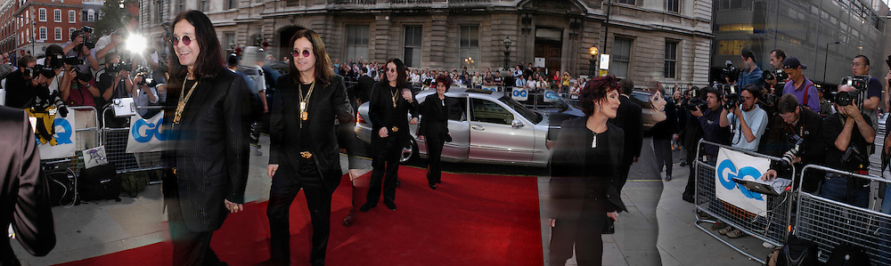 Ozzy and Sharon Osborne, The 7th GQ Man of the Year Awards. RRoyal Opera House in association with Armani Mania. 7 September 2004. SUPPLIED FOR ONE-TIME USE ONLY> DO NOT ARCHIVE. © Copyright Photograph by Dafydd Jones 66 Stockwell Park Rd. London SW9 0DA Tel 020 7733 0108 www.dafjones.com