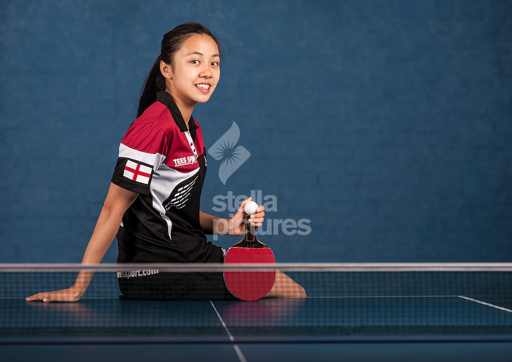 England table tennis player Tin-Tin Ho pictured at her central London home. <br /> Picture by Daniel Hambury/Stella Pictures Ltd +44 7813 022858<br /> 12/07/2014
