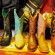 Wide variety of cowboy boots in Old Town Albuquerque, NM.