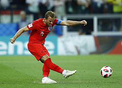 July 3, 2018 - Moscow, Russia - Round of 16 England v Colombia - FIFA World Cup Russia 2018..Harry Kane (England) scores the penalty at Spartak Stadium in Moscow, Russia on July 3, 2018. (Credit Image: © Matteo Ciambelli/NurPhoto via ZUMA Press)