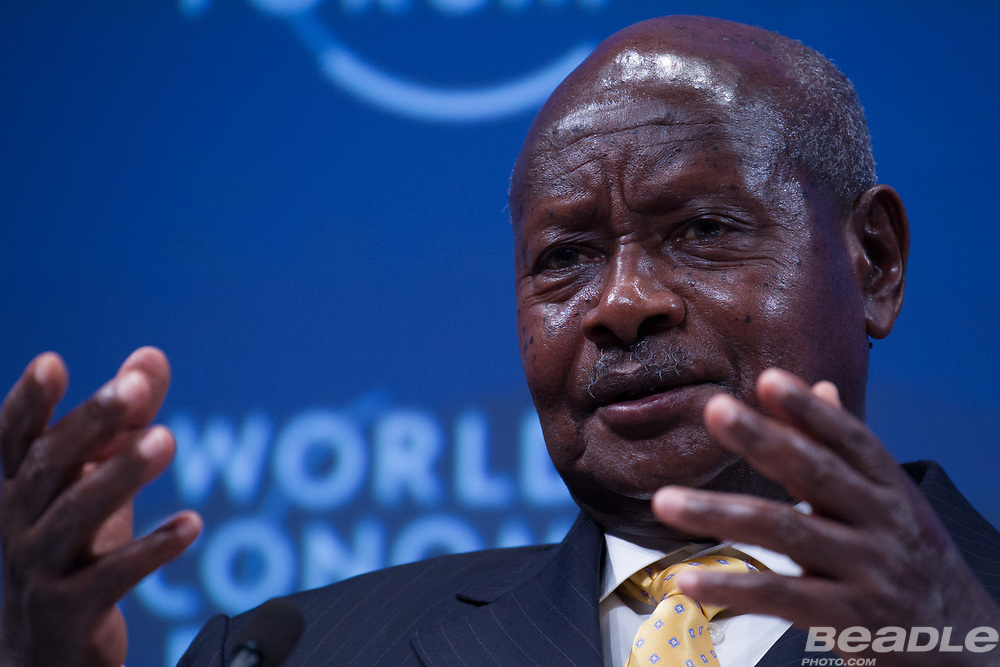 Yoweri Kaguta Museveni, President of Uganda<br /> Office of the President of Uganda at the World Economic Forum on Africa 2017 in Durban, South Africa. Copyright by World Economic Forum / Greg Beadle