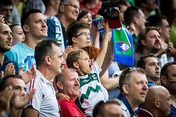 Young spectator during the EURO 2016 Qualifier Group E match between Slovenia and England at SRC Stozice on June 14, 2015 in Ljubljana, Slovenia. Photo by Grega Valancic