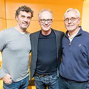 NLD/Amsterdam/20171207 - Perspresentatie Vrienden van Andere Tijden Sport 2017, ijshockers Ron Berteling, Han Hillen, en Jan Jansen