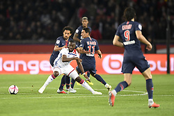 October 7, 2018 - Paris, France - 28 TANGUY NDOMBELE (OL) - 05 MARQUINHOS  (Credit Image: © Panoramic via ZUMA Press)
