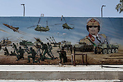 Sco0033837 .  Daily Telegraph..A mural at the Headquarters of Khamis Gaddifi's elite Special Forces Brigade in southern Tripoli..Tripoli 28 August 2011. ............Not Getty.Not Reuters.Not AP.Not Reuters.Not PA