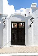 Doorway of historic house in Yaiza, Lanzarote, Canary Islands, Spain