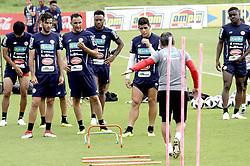 COSTA RICA-SAN ANTONIO DE BELEN-COPA MUNDIAL-ENTRENAMIENTO.(180530) -- SAN ANTONIO DE BELEN, mayo 30, 2018  Keylor Navas (c), de la selección nacional de fútbol de Costa Rica, participa en una sesión de entrenamiento en el complejo de alto rendimiento de La Federación Costarricense de Fútbol, en San Antonio de Belen, Costa Rica, el 30 de mayo de 2018. La selección nacional de fútbol de Costa Rica se enfrentará a Irlanda del Norte el 3 de junio en el Estadio Nacional, previo a su participación en la Copa Mundial de la FIFA Rusia 2018 que se llevará a cabo entre el 14 de junio y el 15 de julio de 2018. (Credit Image: © [E]Kent Gilbert/Xinhua via ZUMA Wire)