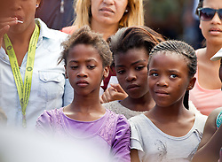 Faces in the crowd on King Langalibalele Street during the Open Streets Langa event on 30 October 2016, when the street was closed to motorised vehicles and opened to people. Hosted by Open Streets Cape Town and supported by the City of Cape town and WWF. photo by John Tee/RealTime Images.