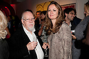 SIR PETER BLAKE; LUCY YEOMANS, Tunnel of Love. Funfair party The Mending Broken Hearts appeal In aid of the British Heart Foundation. Victoria House, Bloomsbury. London. 17 May 2011. <br /> <br />  , -DO NOT ARCHIVE-© Copyright Photograph by Dafydd Jones. 248 Clapham Rd. London SW9 0PZ. Tel 0207 820 0771. www.dafjones.com.