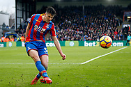 Martin Kelly of Crystal Palace in action. Premier League match, Crystal Palace v Newcastle Uutd at Selhurst Park in London on Sunday 4th February 2018. pic by Steffan Bowen, Andrew Orchard sports photography.