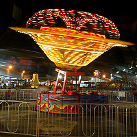 (DAYIN) Keansburg 7/3/2002   A long exposure of a ride on the Keasnburg Boardwalk at the west end of the rides area.  9:30pm.       Michael J. Treola Staff Photographer.............MJT