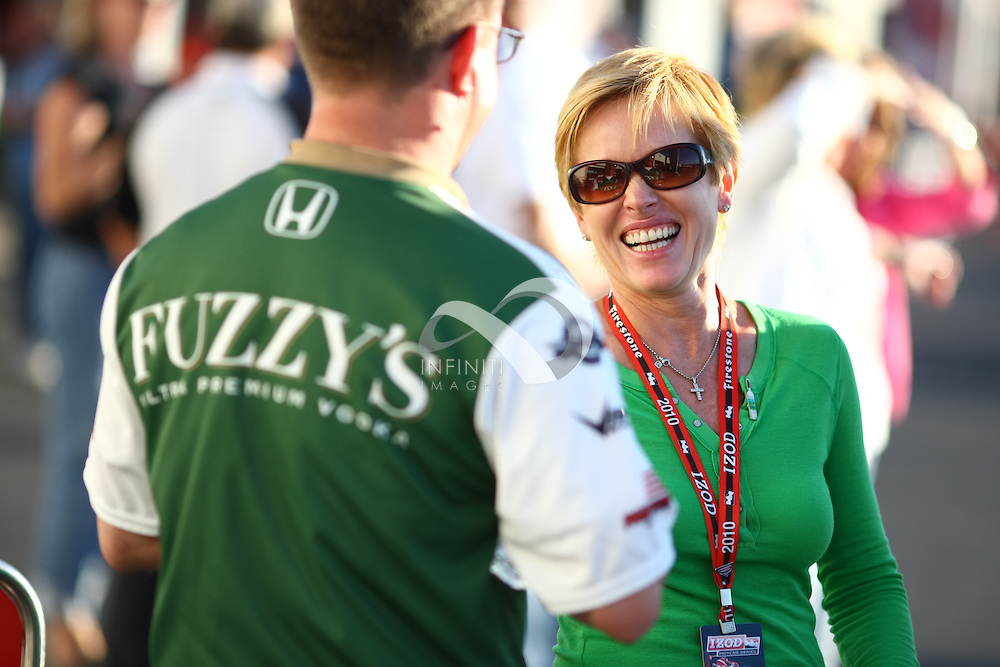 Team Vision Racing sponsored by Fuzzy's Ultra Premium Vodka seen on race day of the Kentucky Indy 300 IZOD IndyCar race at Kentucky Speedway in Sparta, KY...Corporate event photography by Michael Hickey, Infiniti Images