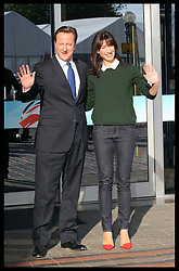 Prime Minister David Cameron and his wife Samantha arriving at the Conservative Party Conference in Birmingham, Sunday,  October 7th 2012. Photo by: Stephen Lock / i-Images