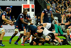 November 11, 2017 - Saint Denis, Seine Saint Denis, France - French team Flanker JUDICALEL CANCORIET in action during the friendly match between France and New Zealand at the Stade de France - St Denis - France.New Zealand beats France 38-18 (Credit Image: © Pierre Stevenin via ZUMA Wire)