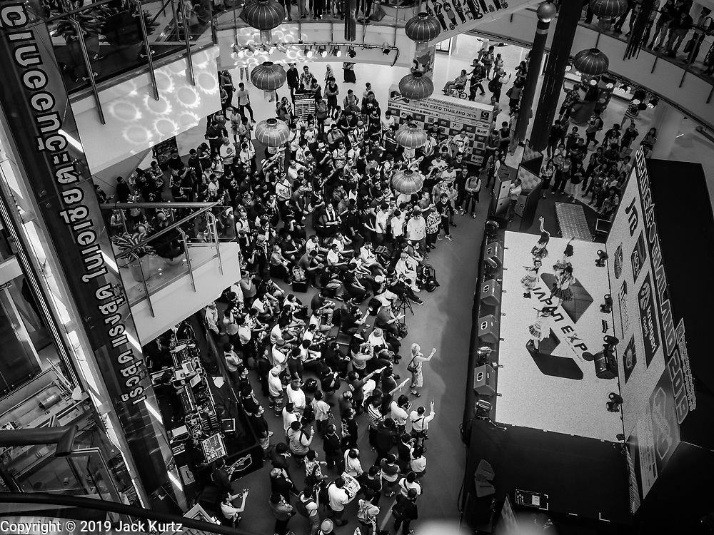 """25 JANUARY 2019 - BANGKOK, THAILAND: Members of the band """"W."""" perform during a """"J Pop"""" (Japanese Pop music) concert at the Japan Expo in Central World, a shopping mall in Bangkok.      PHOTO BY JACK KURTZ"""