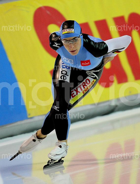 Erfurt , 170207 , Eisschnelllauf Weltcup , 1500m Frauen  Anni FRIESINGER (GER) gewinnt ueber 1500 meter mit neuem Bahnrekord