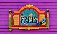 Colorful store sign on Matlacha island<br /> along Florida's Gulf coast.USA.