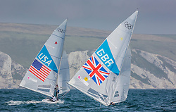 03.08.2012, Bucht von Weymouth, GBR, Olympia 2012, Segeln, im Bild Percy Iain, Simpson Andrew, (GBR, Star).MENDELBLATT Mark, Fatih Brian, (USA, Star) // during Sailing, at the 2012 Summer Olympics at Bay of Weymouth, United Kingdom on 2012/08/03. EXPA Pictures © 2012, PhotoCredit: EXPA/ Daniel Forster ***** ATTENTION for AUT, CRO, GER, FIN, NOR, NED, POL, SLO and SWE ONLY!
