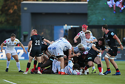 Tom Price of Exeter Chiefs leads the tussle for the ball - Mandatory by-line: Arron Gent/JMP - 13/09/2020 - RUGBY - Allianz Park - London, England - Saracens v Exeter Chiefs - Gallagher Premiership Rugby