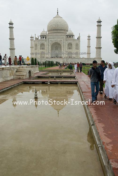 India, Uttar Pradesh, Agra, The Taj Mahal landmark