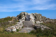 The throne dedicated to the mother of the Prince of the Saltee Islands, on Great Saltee off the coast of Co. Wexford, Ireland. In December 1943 the Saltees were purchased by Michael Neale, who styled himself Prince Michael the First, and entered into a protracted dispute with the Irish authorities over his right to govern and taxes. After his death in January 1998 the islands are were passed on to his five sons Michael - now the prince, John  Manfred, Paul, Richard,  and his daughter Anne.  The island is open to free daily visits for anyone who wants to visit and experience its incredible wildlife. ..Chair inscription:..This chair is erected in memory of my Mother to whom I made a vow when I was ten years old that one day I would own the Saltee Islands and become the  First Prince of the Saltees...Henceforth my heirs and successors can only proclaim .themselves Prince of these Islands by sitting in this chair fully garbed in the Robes and Crown of the Islands and take the Oath of Succession.