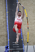 Chris Nilsen places third in the elite men's competition at 18-8 1/4 (5.70m)during the National Pole Vault Summit, Friday, Jan. 17, 2020, in Reno, Nev.
