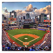 iPhone Instagram of Petco Park in San Diego, California on May 20, 2014