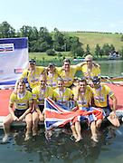 Lucerne, Switzerland.    Bronze Medalist GBR M8+ 2010 FISA World Cup. Lake Rotsee, Lucerne.  14:16:53   Sunday  11/07/2010.  [Mandatory Credit Peter Spurrier/ Intersport Images]