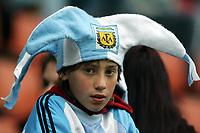 Fotball <br /> FIFA World Youth Championships 2005<br /> Enschede<br /> Nederland / Holland<br /> 11.06.2005<br /> Foto: Morten Olsen, Digitalsport<br /> <br /> USA v Argentina 1-0<br /> <br /> Supporter Argentina