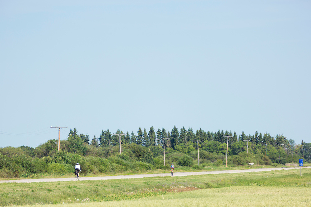 Rest stop, Highway 3, 6 km west of Town of Hudson Bay, Day 6.