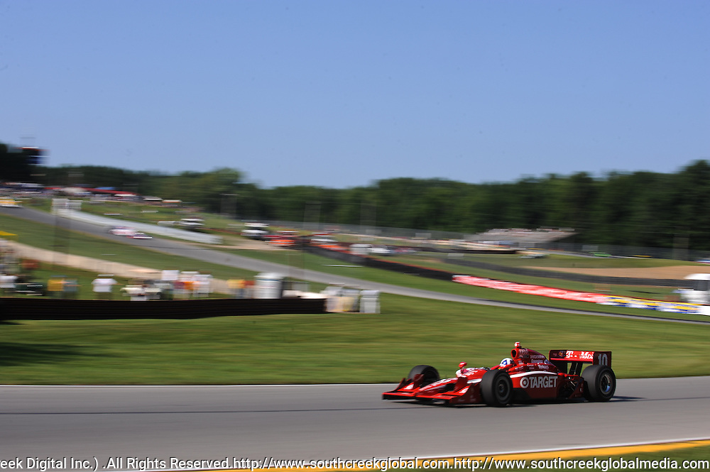 7 August, 2010; Target Chip Ganassi Racing's Dario Franchitti practices for the Izod IndyCar Series Honda Indy 200 at the Mid-Ohio Sports Car Course in Lexington, Ohio..Mandatory Credit: Will Schneekloth / Southcreek Global