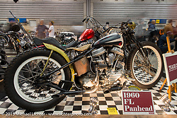 Trash Department's 1960 Harley-Davidson rigid Panhead at the Mooneyes Yokohama Hot Rod & Custom Show. Yokohama, Japan. December 6, 2015.  Photography ©2015 Michael Lichter.