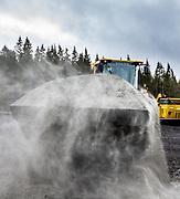 Hjullaster. Skuff med sand. Foto: Jørn Søderholm