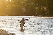 Jeremy Cram casts his line into the Yakima River near Cle Elum in Eastern Washington.
