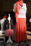 Woman and girls' clothing shop window display, Woodbridge, Suffolk, England