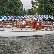 Dunkirk boat -  Janthea (previously Reda), a 45-foot boat built in 1938 <br /> <br /> Racing at the Henley Royal Regatta on The Thames river, Henley on Thames, England. Saturday 6 July 2019. © Copyright photo Steve McArthur / www.photosport.nz