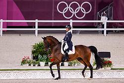 TOKYO - Olympische Spiele / Olympic Games 2021<br /> <br /> HAYASHI Shingo (JPN), Scolari 4<br /> Grand Prix de Dressage<br /> <br /> Tokio, Equestrian Park<br /> 25. July 2021<br /> © www.sportfotos-lafrentz.de/Stefan Lafrentz