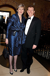 THERESA MAY MP and her husband PHILIP MAY at the 2005 Whitbread Book Awards 2005 held at The Brewery, Chiswell Street, London EC1 on 24th January 2006. The winner of the 2005 Book of the Year was Hilary Spurling for her biography 'Matisse the Master'.<br /><br />NON EXCLUSIVE - WORLD RIGHTS