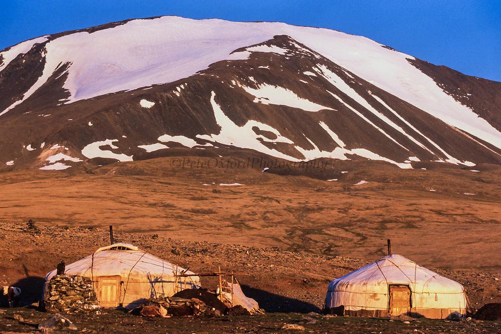 Kazakh gers<br /> Golden eagle hunters<br /> Mongolia's largest ethnic minority<br /> Western Mongolia