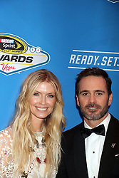 Jimmie Johnson, Chandra Johnson attending the 2016 NASCAR Sprint Cup Series Awards