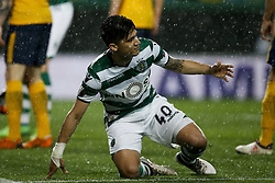 April 12, 2018 - Lisbon, Portugal - Sporting's forward Fredy Montero celebrates his goal  during UEFA Europa League quarter-final second leg football match between Sporting CP vs Club Atletico Madrid, in Lisbon, on April 12, 2018. (Credit Image: © Carlos Palma/NurPhoto via ZUMA Press)