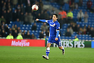 Peter Whittingham of Cardiff city in action.  Skybet football league championship, Cardiff city v AFC Bournemouth at the Cardiff city stadium in Cardiff, South Wales on Tuesday 17th March 2015.<br /> pic by Andrew Orchard, Andrew Orchard sports photography.