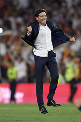 May 25, 2019 - Seville, Spain - Marcelino Garcia Toral of Valencia celebrates victory after during the Spanish Copa del Rey match between Barcelona and Valencia at Estadio Benito Villamarin on May 25, 2019 in Seville. (Credit Image: © Jose Breton/NurPhoto via ZUMA Press)