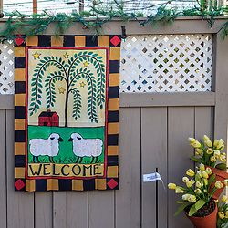 Intercourse, PA, USA - March 13, 2012: A welcome wall covering for sale at a shop in Intercourse, Lancaster ounty, PA