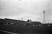 18/03/1963<br /> 03/18/1963<br /> 18 March 1963<br /> Soccer: League of Ireland (FAI) v Irish League (IFA) at Dalymount Park. Irish League won the game 1-3.
