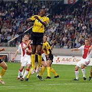 NLD/Amsterdam/20060928 - Voetbal, Uefa Cup voorronde 2006, Ajax - IK Start, Markus Rosenberg legt aan voor zijn 1e doelpunt