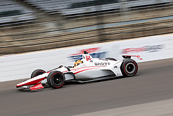 May 20, 2018 - Indianapolis, IN, U.S. - INDIANAPOLIS, IN - MAY 20: Oriol Servia, driver of the #64 Scuderia Corsa w/ RLLR Honda, heads into turn 1 while practicing during Indianapolis 500 pole day on May 20, 2018, at the Indianapolis Motor Speedway Road Course in Indianapolis, Indiana. (Photo by Adam Lacy/Icon Sportswire) (Credit Image: © Adam Lacy/Icon SMI via ZUMA Press)