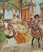 Joaquin Sorolla y Bastida, (27 February 1863 – 10 August 1923) Spanish painter. A festival procession in Valencia
