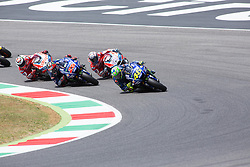 June 4, 2017 - Mugello, Italy - Valentino ROSSI ITA Movistar Yamaha MotoGP, Andrea DOVIZIOSO ITA Ducati Team, Maverick VI?ALES SPA Movistar Yamaha MotoGP, DUCATI Jorge LORENZO SPA Ducati Team,Day 3 Race at the Mugello International Cuircuit for the sixth round of MotoGP World Championship Gran Premio d'Italia Oakley  on June 4, 2017. (Credit Image: © Fabio Averna/NurPhoto via ZUMA Press)